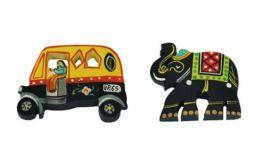 Desi Toys-Fridge Magnets handpainted, Fridge Chumbak  Pack of 2