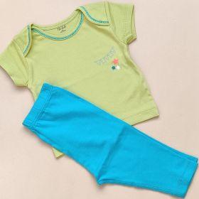 Thalelo- Half Sleeve T-shirt and Pant Set- Streamer