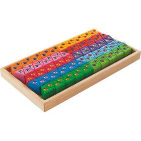 HABA Rainbow Glitter Triangles Building Set