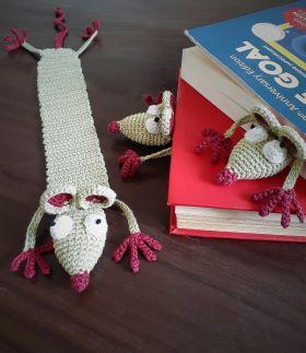 Plum Tales-Handcrafted Amigurumi Rat Bookmark