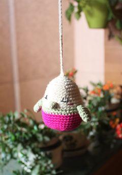 Plum Tales-Handcrafted Amigurumi Bird Hanging