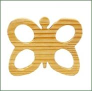 Little Jamun-Butterfly Wooden Rattle