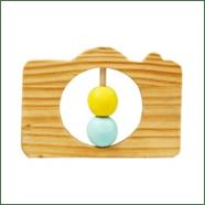 Little Jamun-Camera Wooden Rattle
