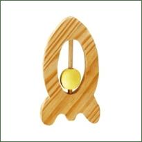 Little Jamun-Rocket Wooden Rattle