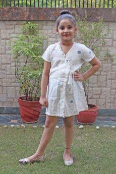 Simply Kitsch-Handloom Jaamdani Cotton Dress