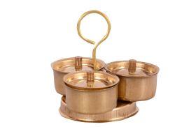 Desi Toys-Brass Pretend Playset Trimukh