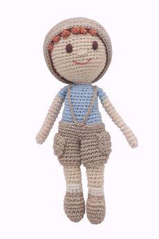 Happy Threads-Amigurumi Soft Toy- Little Boy Doll
