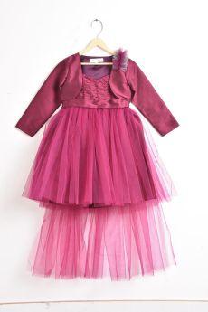 Jelly Jones Wine Dress with wine shrug