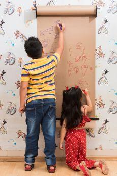 The Story Saga-Wall Mounted Kraft paper Wall Scroll - Brown