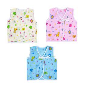 Baby Moo-I Love Animals Blue, Pink & Yellow 3 Pk 100% Cotton Jhabla
