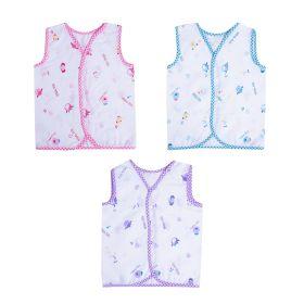 Baby Moo-Fun In The Jungle Blue, Pink & Purple 3 Pk 100% Cotton Jhabla