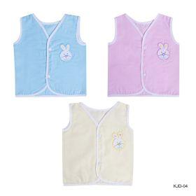 Baby Moo-Smart Bunny Blue, Pink & Yellow 3 Pk 100% Cotton Jhabla
