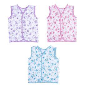 Baby Moo-BFF Bear Blue, Pink & Purple 3 Pk 100% Cotton Jhabla