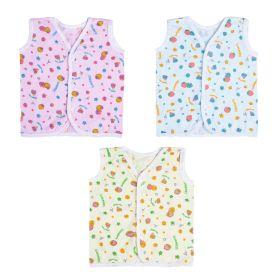 Baby Moo-I Love You Berry Much Multicolour 3 Pk 100% Cotton Jhabla