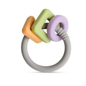Little Rawr Geo Shape Ring Teether Toy