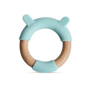 Little Rawr Wood + Silicone Teether Ring - BEAR
