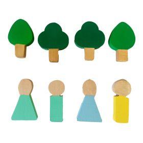 Little Jamun-Set of 4 Trees & 4 People
