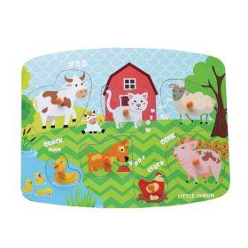 Little Jamun Farm Animals Peg Puzzle