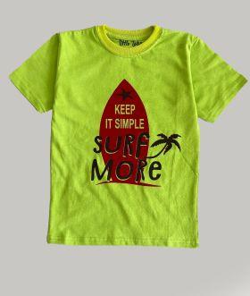 Little labs surf more print T-shirt - Green