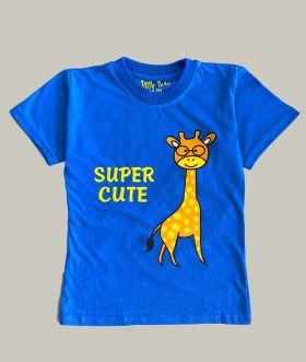 Little labs super cute print T-Shirt - Blue