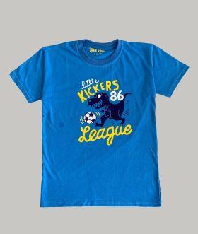 Little Labs little kicker print t-Shirt - Blue