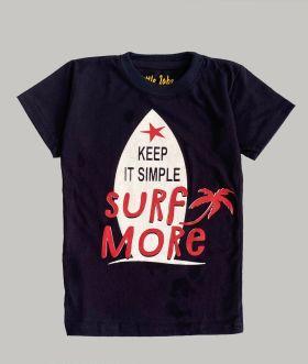 Little labs surf more print T-shirt - black