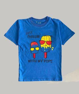 Little labs icecream print t-shirt - light blue
