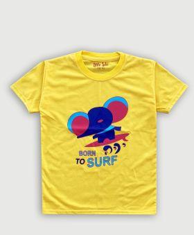 Little Labs elephant print half sleeves t-shirt - Yellow