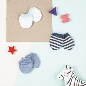 Baby Moo-Mixed Prints (Mb4343) Multicolour 3 Pk Mitten