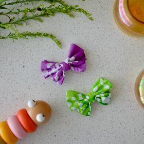Neemboo Butterfly Hair Clips - Green n Purple
