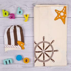 Baby Moo-Sailing Cream Nursing Cover