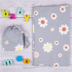 Baby Moo-Floral Grey Nursing Cover