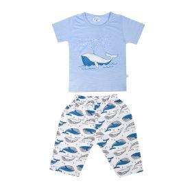 Baby Moo-Fun In The Ocean Blue Night Suit-RM02916-SBLU3