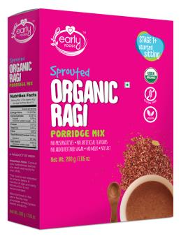 Early Food Organic Sprouted Ragi Porridge Mix 200g (Plain)