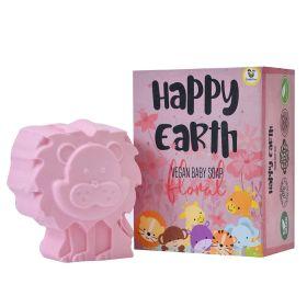 Cuddle Care-Happy Earth Vegan Baby Bath Soap-Pink (Floral)