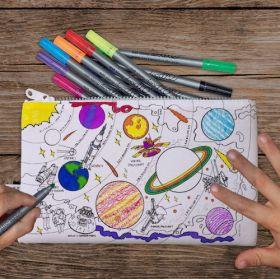 Pink Parrot Kids-space explorer pencilcase