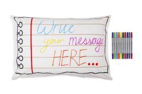 Pink Parrot Kids-doodle notebook pillowcase