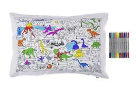 Pink Parrot Kids-dinosaur pillowcase