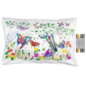 Pink Parrot Kids-butterfly pillowcase
