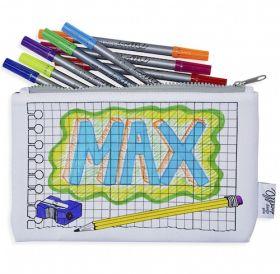 Pink Parrot Kids-doodle notebook pencilcase