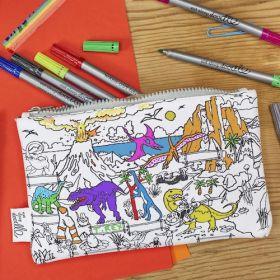 Pink Parrot Kids-dinosaur pencilcase