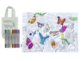 Pink Parrot Kids-placemat to go - butterflies