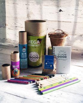 Bobtail-PLANTABLE PENS & PENCIL GIFT BOX - Mega Grow Kit (cylinder box)