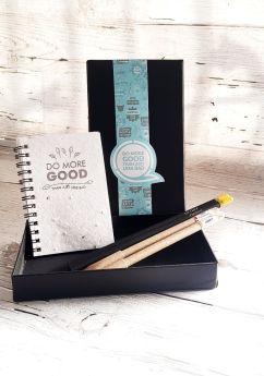 Bobtail-PLANTABLE PENS & PENCIL GIFT BOX - Mini GIFT BOX  (BLACK HARD box)