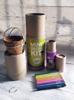 Bobtail-PLANTABLE PENS & PENCIL GIFT BOX - Mini Grow Kit (cylinder box)