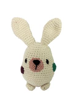 Plum Tales-Handcrafted Amigurumi Bunny Rattle