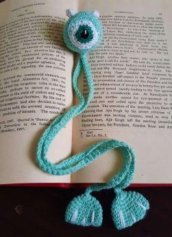 Plum Tales-Handcrafted Amigurumi Monster Bookmark