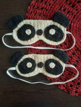 Plum Tales-Handcrafted Amigurumi Panda Sleep Eye Mask