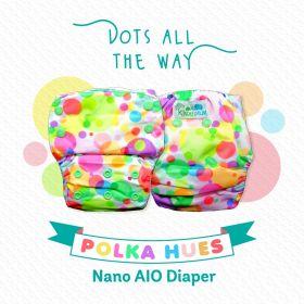 Kindermum-Polka Hues – Nano AIO with 2 organic cotton inserts