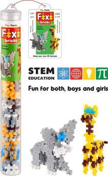 Play Panda Fixi Bricks Jungle Tube 1 - Elephant and Giraffe